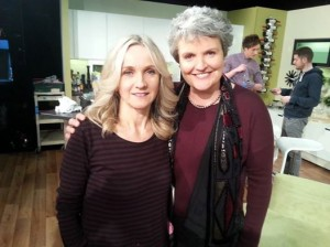 Isabelle and Rose on the set of Late Lunch Live